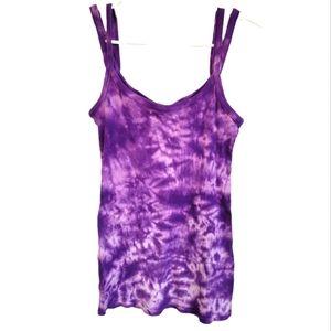 Miley Cyrus Max Azria Tanktop Purple Tie Dye XL